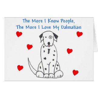 もっと私は人々のダルマチア人を知っています カード