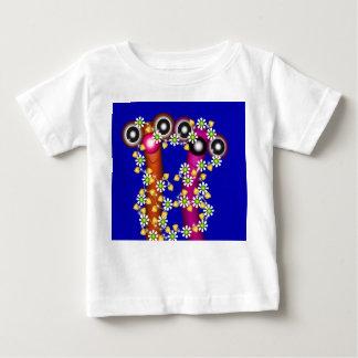 もつれさせたみみずの友人のTシャツ ベビーTシャツ