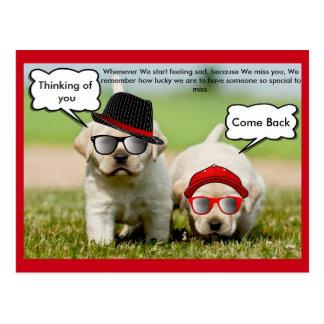 もどって来るあなたのラブラドル・レトリーバー犬の考えること ポストカード