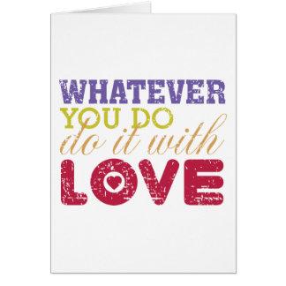 ものは何でも、愛とのそれをして下さい カード