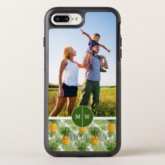 やし及びPineapples|はあなたの写真及びモノグラムを加えます オッターボックスシンメトリーiPhone 8 Plus/7 Plusケース