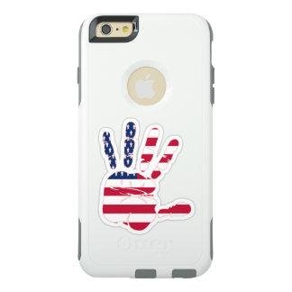 やし米国米国手の米国旗 オッターボックスiPhone 6/6S PLUSケース