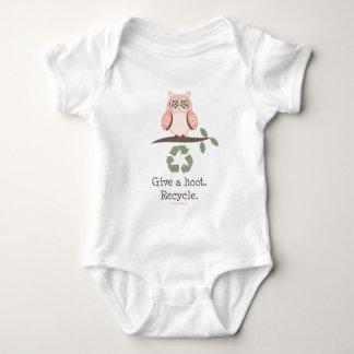 やじり声のリサイクルの乳児のボディスーツを与えて下さい ベビーボディスーツ