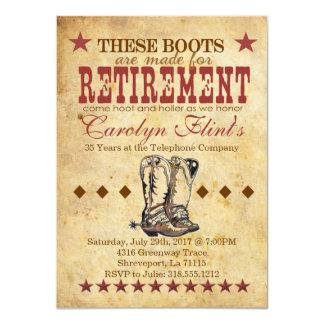 やじり声及び叫びの退職の招待状 カード