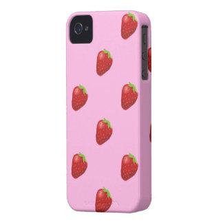 やっといちごパターンiphone4 Case-Mate iPhone 4 ケース