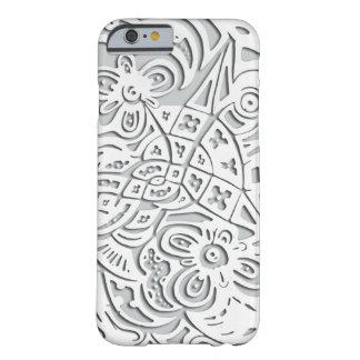 やっとそこにiPhone6ケースの(白い) -花 Barely There iPhone 6 ケース