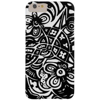 やっとそこにiPhone 6のプラスの場合(黒) -花 Barely There iPhone 6 Plus ケース