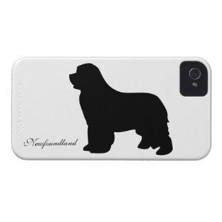 やっとニューファウンドランド犬のiphone 4ケースのシルエット Case-Mate iPhone 4 ケース
