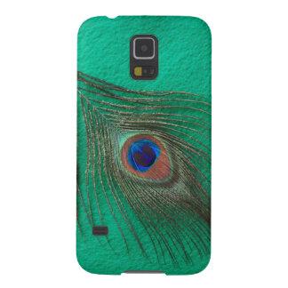 やっと緑の孔雀の羽のSamsungの銀河系の関連 Galaxy S5 ケース