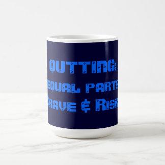 やめること: 同輩は勇敢及び危険分けます コーヒーマグカップ