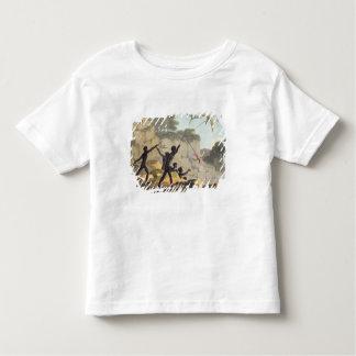 やりを投げること、鳥をからの捜している土人 トドラーTシャツ