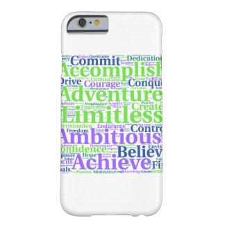 やる気を起こさせるか前向きな単語の電話箱 BARELY THERE iPhone 6 ケース