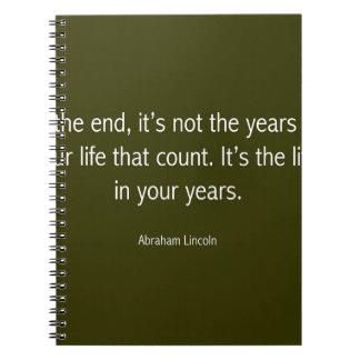 やる気を起こさせるなエイブラハム・リンカーンの有名な引用文 ノートブック