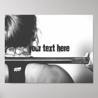 やる気を起こさせるな体育館のカスタマイズ可能な文字 ポスター