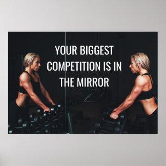 やる気を起こさせるな体育館のトレーニングの競争の引用文 ポスター