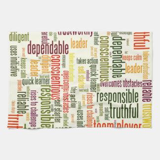 やる気を起こさせるな単語#4の陽性の価値 キッチンタオル