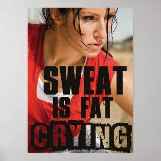 やる気を起こさせるな女性のフィットネスの体育館ポスター ポスター