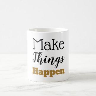 やる気を起こさせるな引用文は事をタイポグラフィ起こらせます コーヒーマグカップ