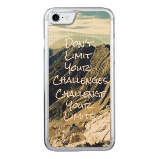 やる気を起こさせるな引用文: あなたの限界に挑戦して下さい CARVED iPhone 8/7 ケース
