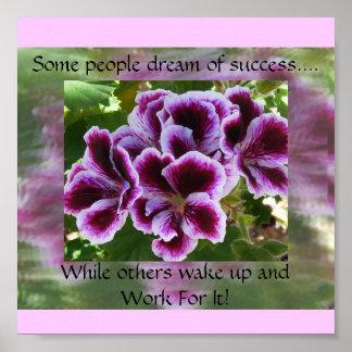 やる気を起こさせるな成功の何人かの人々夢 ポスター