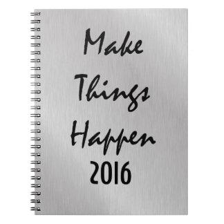 やる気を起こさせるな新年の引用文 ノートブック