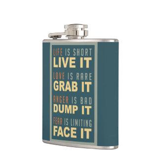 やる気を起こさせるな生命アドバイスのフラスコ フラスク