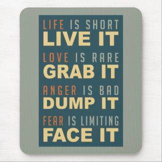 やる気を起こさせるな生命アドバイスのmousepad マウスパッド