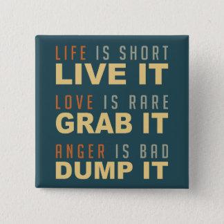 やる気を起こさせるな生命アドバイスボタン 缶バッジ