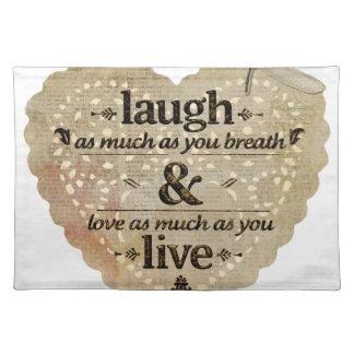 やる気を起こさせるな笑い愛 ランチョンマット
