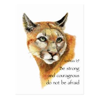 やる気を起こさせるな聖なる書物、経典のジョシュアのクーガー動物の芸術 ポストカード