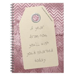 やる気を起こさせるな開始は今日引用します ノートブック