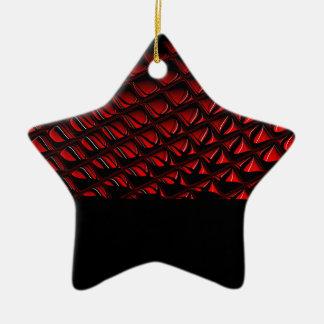 ゆがみの赤くおよび黒い抽象美術 セラミックオーナメント