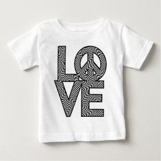 ゆがみLOVE=Peaceを点検して下さい ベビーTシャツ