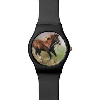 ゆっくりと駆けていく子馬の芸術 腕時計