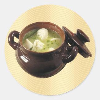 ゆで団子スープ ラウンドシール