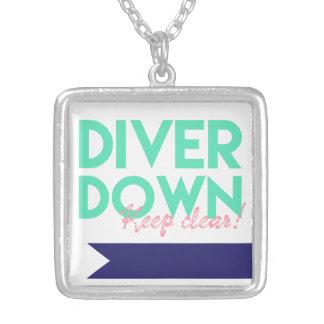 ゆとり、ダイバーのネックレスを固定して下さい シルバープレートネックレス