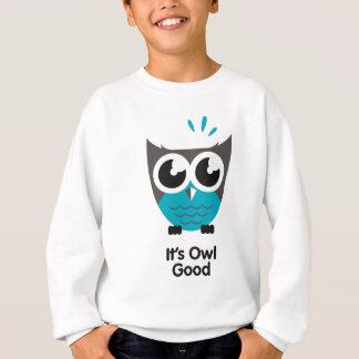 よいその突きぎり。 おもしろいなフクロウのイメージ スウェットシャツ
