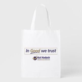 """よいのKol Hadash """"私達は""""買い物袋を信頼します エコバッグ"""