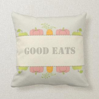 よいよい食糧およびよい家の同輩は食べます クッション