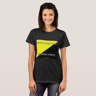 よいアイディアは力-女性のTシャツ--を要求しません Tシャツ