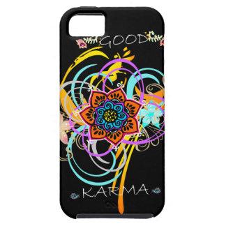 """""""よいカルマ""""の曼荼羅の花の渦巻のiPhone 5の場合 iPhone SE/5/5s ケース"""