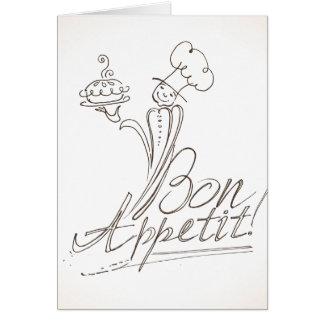 よいシェフは糖菓Appetitを言います! 挨拶状 カード