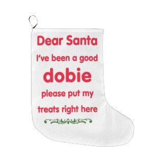 よいドーベルマン(犬)のためのかわいいクリスマスのストッキング ラージクリスマスストッキング