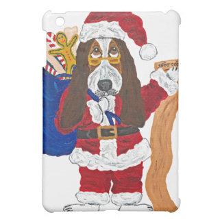 よいバセット犬のバセット犬のサンタのチェックリスト iPad MINIカバー