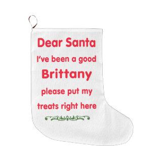 よいブリッタニー ラージクリスマスストッキング