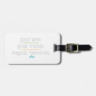よいワインのすばらしい友人、魔法の記憶 ラゲッジタグ