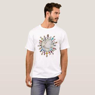よい人のTシャツ(新しいデザイン)のための力分野 Tシャツ