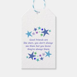 よい友人は星の感動的な引用文のようです ギフトタグ