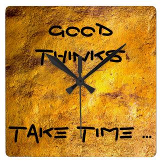 よい取ります時間に魔法のシックな柱時計を考えます! スクエア壁時計