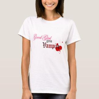 よい女の子によって行く吸血鬼 Tシャツ